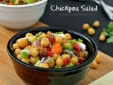 Chickpea Salad - Garbanzo Bean Salad - Chana Salad