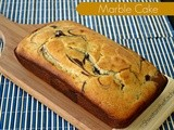 Eggless Marble Loaf Cake - Vanilla Chocolate Marble Cake