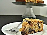 Eggless Vanilla Chocolate Chip Crumb Cake