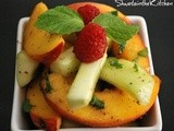 Peach Raspberry & Cucumber Salad