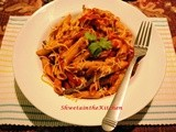 Penne Pasta with Red & Green Pepper