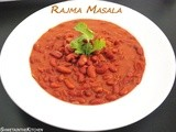 Rajma Masala - Rajma Chawal - Red Kidney Beans Curry