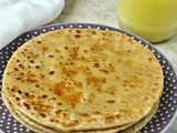 Sanjori - Rava Sheera Paratha - Sweet Paratha - Semolina Pudding Stuffed Indian Flabread