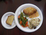 Breaded Pork Chops and Meatloaf for Senior Lunches