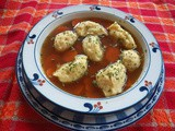 Chicken Soup with Flour Dumplings (Melboller)