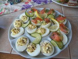 Deviled Eggs with Capers and Salmon