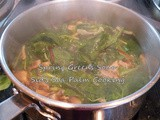 Spring Greens Soup with Mushrooms for #SoupSaturdaySwappers