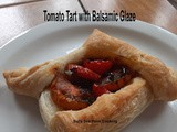 Tomato Tart with Balsamic Glaze