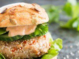 Asian chicken burger with spicy chili mayonaise
