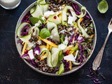 Asian salad with black rice