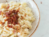 Cauliflower puree with bacon crumble