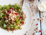 Farro salad with pomegranate and goat cheese