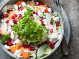 Fennel salad with pomegranate and goat cheese