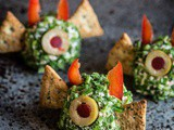Halloween snack: little cheese devils