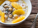 Oatmeal with orange and coconut milk