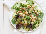 Quinoa salad with almond butter dressing