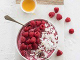 Raspberry coconut mousse that is superquick and delicious