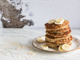 Simple and healthy coconut banana pancakes