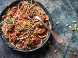 Vegan spaghetti bolognese as we should all eat more plantbased