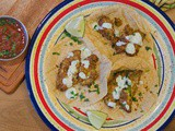 Air Fried Avocado Tacos with Cilantro Crema