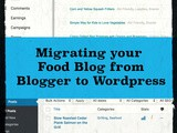 Moving a Food Blog from Blogger to WordPress