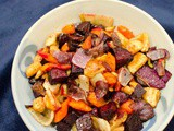 Oven Roasted Root Vegetables with Thyme and Parmesan