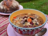 Beef Barley Soup  #Foodie Friday