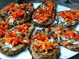 Breaded Eggplant with Red Pepper Salsa #Foodie Friday