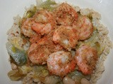 Breaded Shrimp with Escarole and White Beans