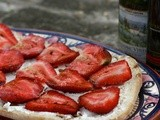 Goat Cheese & Strawberry Tartine #French Friday's with Dorie