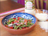 Green Bean Salad with Sierra Brand Cotija Style Cheese from v&v Supremo