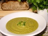 Green Irish Soup: Leeks & Parsnips  #Foodie Friday