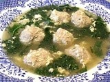 Italian Egg Drop Soup with Little Meatballs