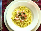 Langostino with Vanilla Cream Sauce over Linguine # Freixenet: Mia Rosé #French Fridays with Dorie