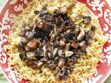 Mushrooms in a Butter Sauce over Egg Noodles #Weekly Menu Plan