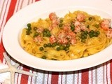 Shellfish & Peas Tagliatelle #Foodie Friday