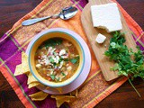 Slow Cooker Mexican Chicken Soup # Cinco de Mayo