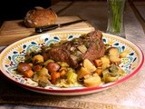 Slow Cooker Pot Roast with Root Vegetables: Inspired by Boeuf a la Ficelle #French Fridays with Dorie