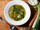 Spring Vegetable Soup with Pesto  #Foodie Friday