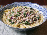 Tuna White Bean Pasta Salad #Safe Catch Canned Tuna #Weekly Menu Plan