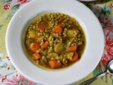 Vegetable Barley Soup with the Taste of Little India #French Fridays with Dorie
