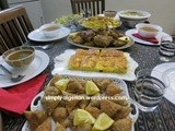 Table de ftour Algerienne….Algerian Iftar table