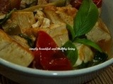 Braised Soft Tofu (Bean curd) with Thai Basil (Meatless Recipe)