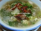 Chinese Cabbage Egg Miso Soup (Meatless Recipe)