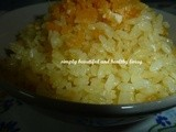 Fragrant Golden Fried Pearl White Rice (Meatless Recipe)