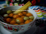 Happy Winter Solstice 冬至节快乐 and Tang Yuan 汤圆 (Chinese Glutinous Rice Balls) in Sweet Fragrant Osmanthus Lemongrass Pandan Sweet Soup
