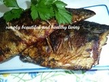 Simple Pan-Fried  Norwegian Blue Mackerel with Apple Sauce