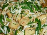 Stir Fried Bean Sprouts(Taugeh) with Chinese Chives (Kuchai)