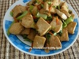 Stir Fried Tofu with Chinese Mustard (Gai Choy) - Meatless Recipe