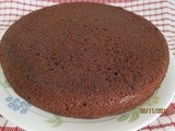 Eggless Chocolate Cake Using Milk powder